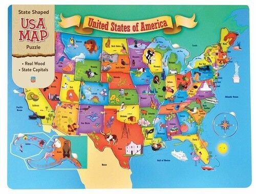 Buy USA Wood Map - 44pc Jigsaw Puzzle by MasterPieces online | eBay