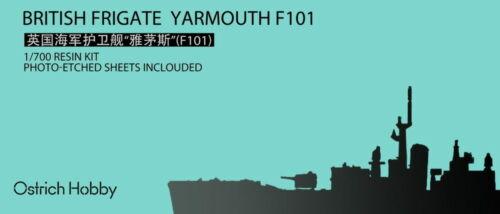Ostrich Hobby resin kit 1//700 British Frigate Yarmouth F101