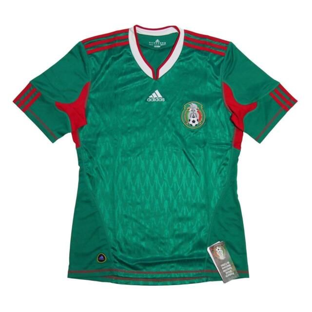 f8e26a934 adidas Mexico FMF Home Jersey Short Sleeve Green Red P41410 Mens Soccer  Jersey for sale online
