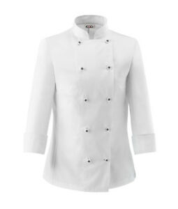 Made Bianca L'Italia Donna Giacca Lady Chef Cook Fit Slim Bottoni Dedicati wzOq7p6