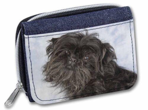 Affenpinscher Dog Girls/Ladies Denim Purse Wallet Christmas Gift Idea, AD-AP1JW