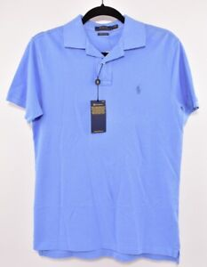 POLO-RALPH-LAUREN-Men-039-s-Custom-Slim-Fit-Polo-Shirt-Sky-Blue-size-SMALL