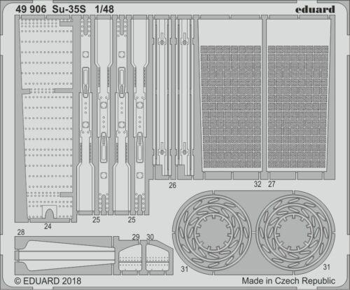Eduard 1//48 Sukhoi Su-35S Flanker E Detailing Set # 49906