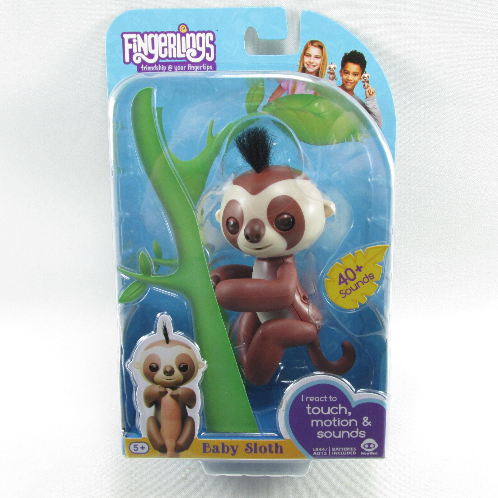 Fingerlings Baby Sloth Kingsley Interactive WowWee New Sealed