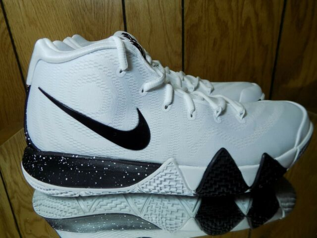 new product 22916 73298 Nike Kyrie 4 TB Mens Av2296-100 White Black Team Bank Basketball Shoes Size  10