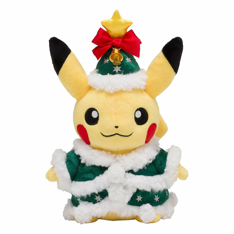 Pokemon Center Originale Peluche Bambola Natale 2017 Pikachu 23cm da Japan FS