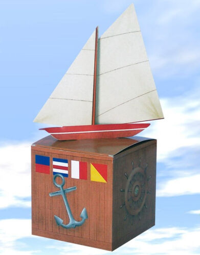 No wrapping paper needed Sailboat Gift Box