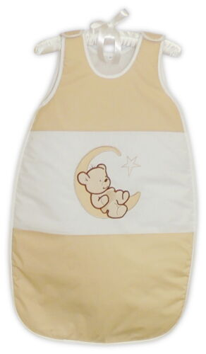 NIUXENDESIGN® Baby Schlafsack Ganzjahres Baumwolle Mondbär 80//86cm NEU