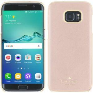 new product 1e9b9 810bd Kate Spade Saffiano Wrap Case Samsung Galaxy S7 Edge Rose Gold | eBay
