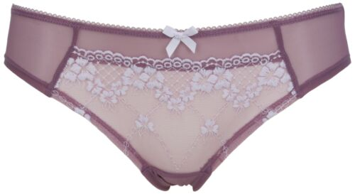 Ex Store 3 Pack Embroidered Semi-Sheer Brazilian Knickers