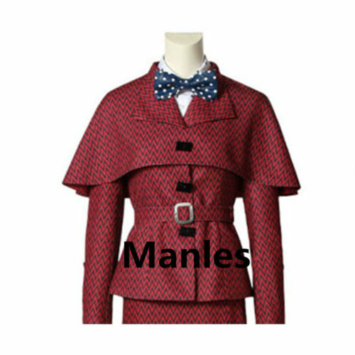 Mary Poppins Nanny Costume Halloween Cosplay Classic Outfit English Victorian