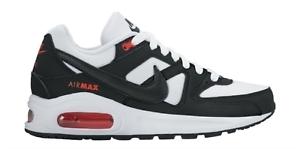 Nike Air Max Command Flex shoes White Black GS 844346-100 Womens 8 = Youth 6.5y