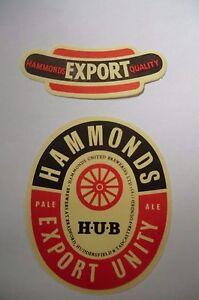 MINT-HAMMONDS-BRADFORD-HUDDERSFIELD-TADCASTER-EXPORT-UNITY-BREWERY-BOTTLE-LABEL