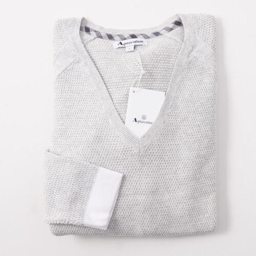 coton 175 en pour femmes clair gris Aquascutum piqué femmes pour Pull Nwt Swx4I
