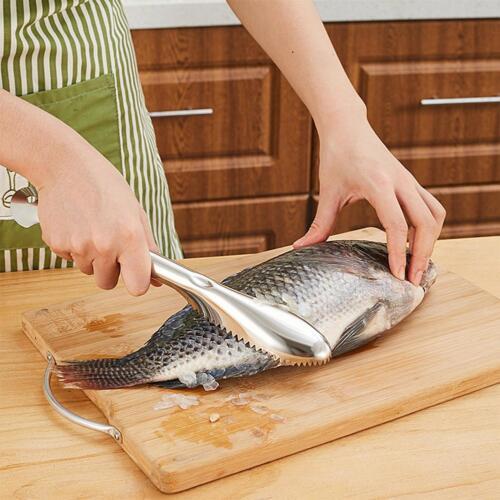 Fischschupper Entschupper Fische schuppen Fische entschuppen Fischmesser Neu