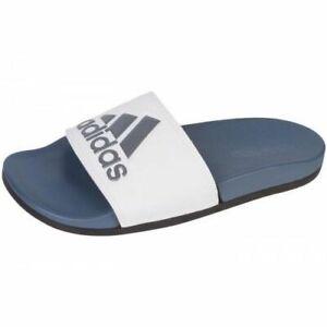 61090d798 Image is loading Adidas-Adilette-Comfort-Grey-White-Black-Slides-Men-