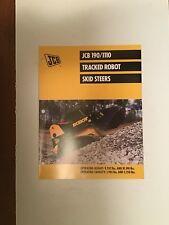 Jcb Track Skid Steer Models 1901110 Loader Sales Literature Amp Specifications