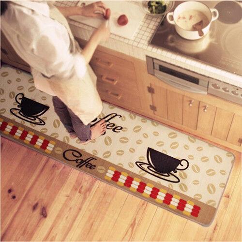 AM/_ Soft Coffee Cup Pattern Small Rug Bedroom Kitchen Anti-slip Mat Carpet Dream