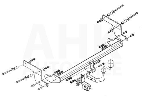 Kpl Für Renault Clio IV 5-Tür ab 16 mit LED-Rückleuchten AHK starr+ES 13p spez