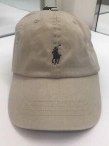 db13bf9d2 Polo Ralph Lauren Men's Adjustable Cap Nubuck Tan w/Navy Pony Cotton ...