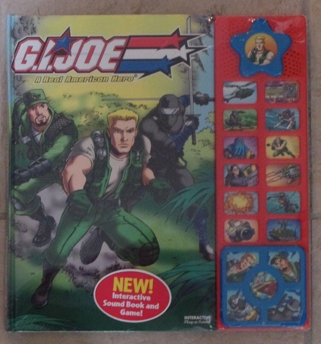 GI Joe A Real American Hero Interactive Sound Book & Game NEW SEALED Hasbro