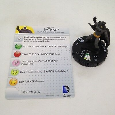 Heroclix Batman set Batman #001 Common figure w//card!