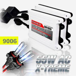 Image Is Loading GENSSI 9006 HID Kit Headlight Bulbs White Blue