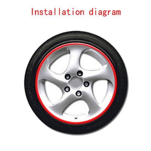 16 Strips Reflective Motorcycle Auto Rim Stripe Wheel Decal Tape Sticker 18inch