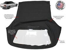 BMW 3-Series 1994-1999 E36 Convertible Soft Top & Plastic Window Black Twill