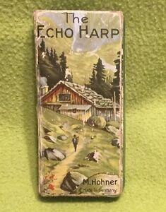 Vintage ~ Harmonica ~ The Echo Harp~ Key GG BELL ~ Germany ~ Org. Box