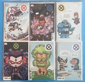 Powers of X 1-6 Complete Skottie Young Variant Set Comic Lot X-Men Hickman