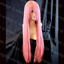 Wiwigs Long Layered Milk Pink Straight Cosplay Skin Top Ladies Wig
