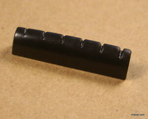 42mm slotted nut replacement for electric acoustic guitar black ebay. Black Bedroom Furniture Sets. Home Design Ideas