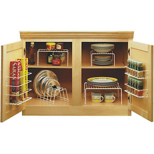Kitchen Cabinet Organizer Set Cupboard Space Saver Kit Spice Rack - Kitchen cabinet space savers