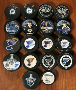 St-Louis-Blues-Puck-Lot-Signed-Autographed-NHL-Hockey-Auto-SGA