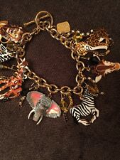 Lunch At The Ritz Jungle Safari Animal Charm Bracelet Gold Plated