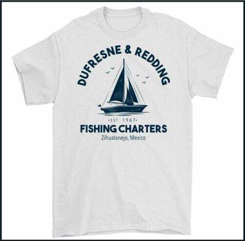 SHAWSHANK REDEMPTION T-SHIRT Dufresne and Redding Fishing Charters Fisherman TEE