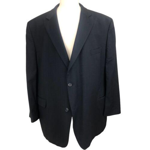 Men's JACK VICTOR Blue Glen Plaid Wool Sport Coat