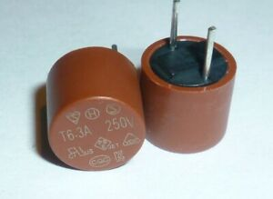 Radial Slow Blow Time Delay Circular PCB Fuse 200mA to 5A