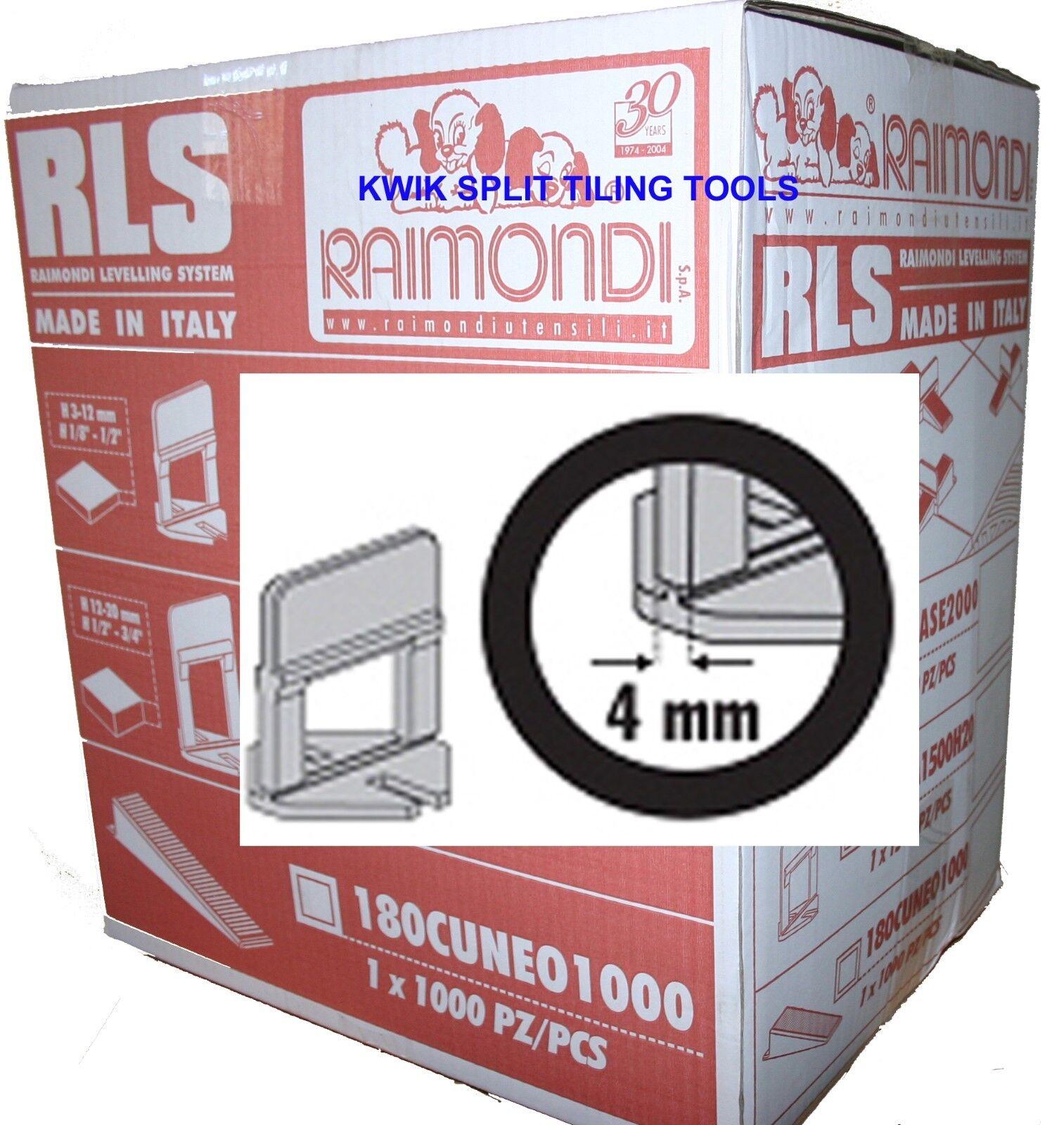 RAIMONDI TILE LEVELLING SYSTEM BASE CLIPS 4mm WIDE