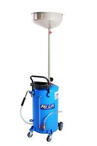 Ölauffangwagen pneumatisch Altöl-Auffanggerät 65Liter blau Ölwanne 02255