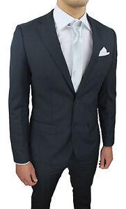 Vestiti Eleganti Uomo Grigio.Abito Completo Uomo Sartoriale Grigio Scuro Slim Fit
