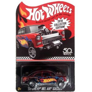 Hot-Wheels-2018-Collector-Edition-55-Chevy-Bel-Air-Gasser-Super-Rare