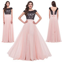 New LACE&Chiffon Formal Homecoming Prom Cocktail dress Long Bridesmaid Evening
