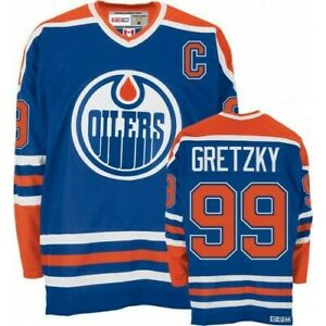 Wayne-Gretzky-99-Edmonton-Oilers-Blue-amp-Orange-Classic-Throwback-Hockey-Jersey