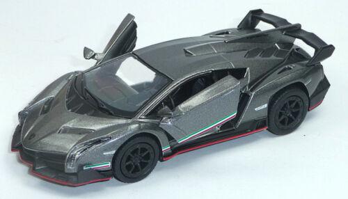 Lamborghini Veneno plata aprox 1:36 modelo de coleccionista 12,5cm mercancía nueva de Kinsmart
