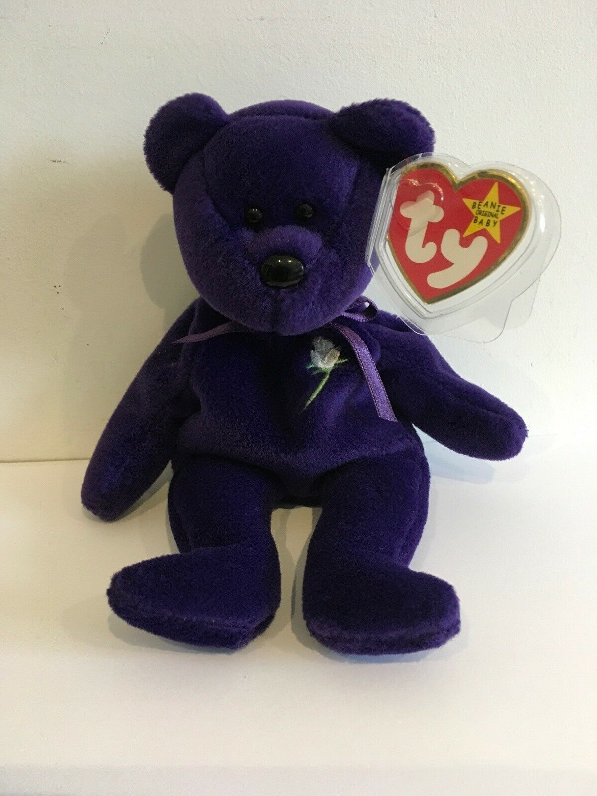TY BEANIE 1st Edition PRINCESS DIANA BEAR - Made in Indonesia 1997