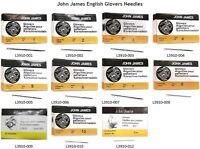 25 John James English Glovers Needles