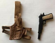 "ROYCE PISTOL GUN & HOLSTER Predators HOT TOYS MMS 131 2010 1/6TH SCALE 12"" Inch"
