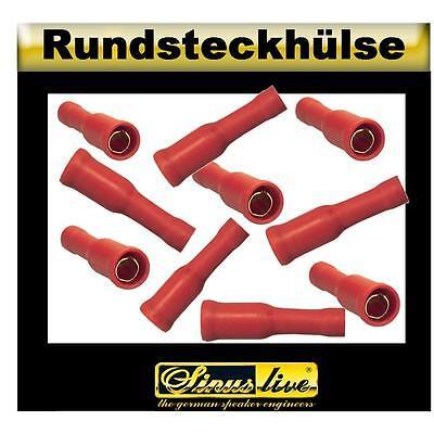 Verantwortlich Sinuslive 13454 Rundsteckhülse Vergoldete Kontakte 10 Stück Für Kabel Bis 1,5mm² Auto & Motorrad: Teile
